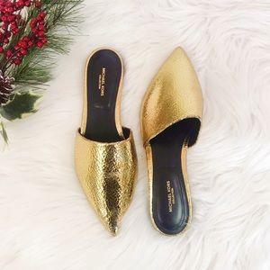 Michael Kors Shoes - Michael Kors Darla Gold  Slides✨Brand New!